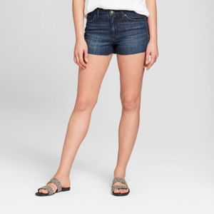 Universal Thread High Rise Shortie Shorts Raw Hem